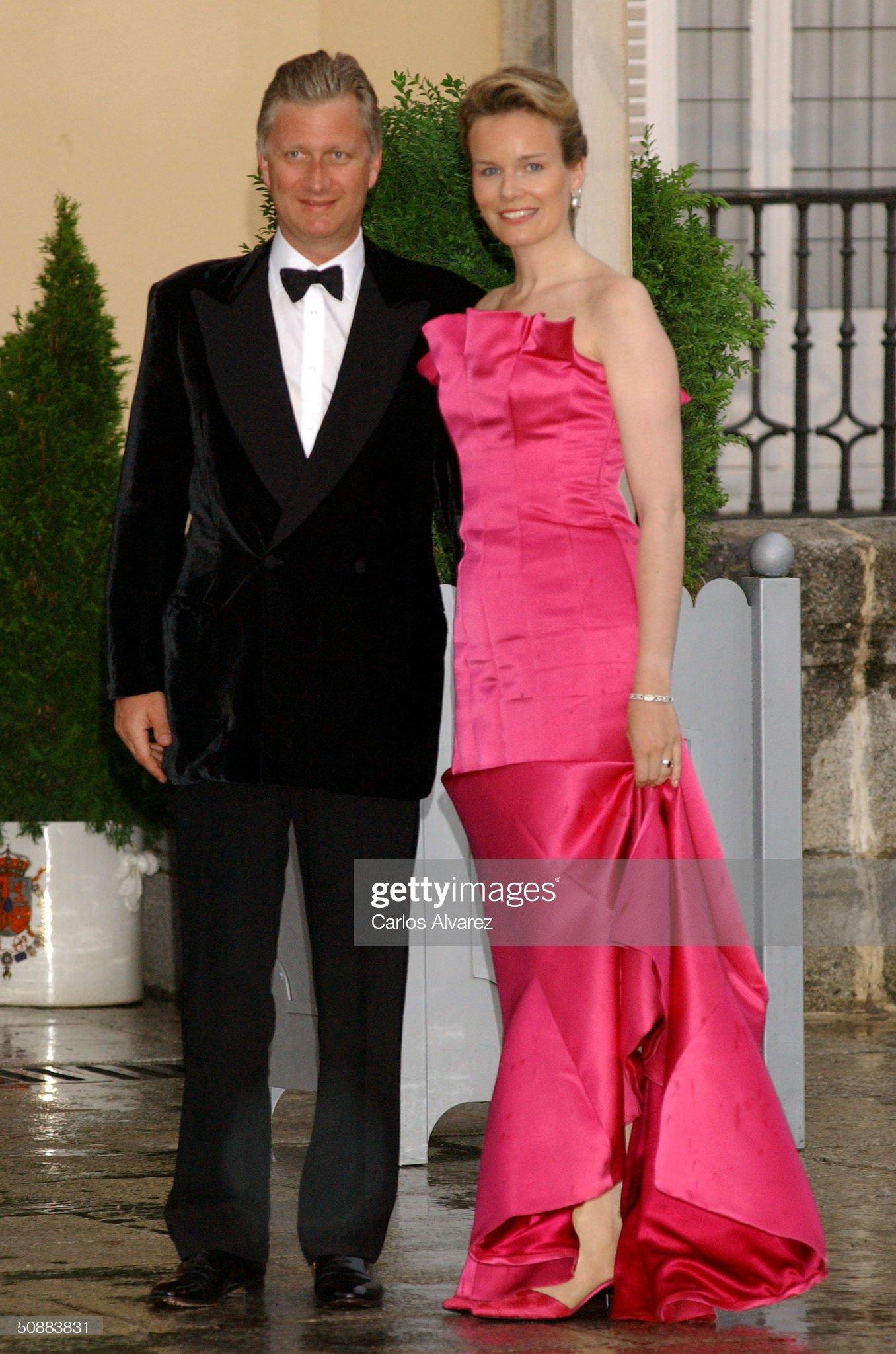 Вечерние наряды Королевы Матильды Gala Dinner at El Pardo Royal Palace In Preparation Spanish Wedding : News Photo