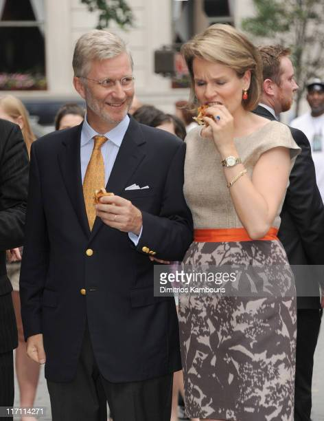 Prince Philippe and HRH Princess Mathilde of Belgium visit Central Park on June 22 2011 in New York City