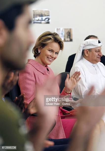 Prince Philippe and Princess Mathilde are visiting Qatar for an economic mission Princess Mathilde is visiting shafallah a center for children with...