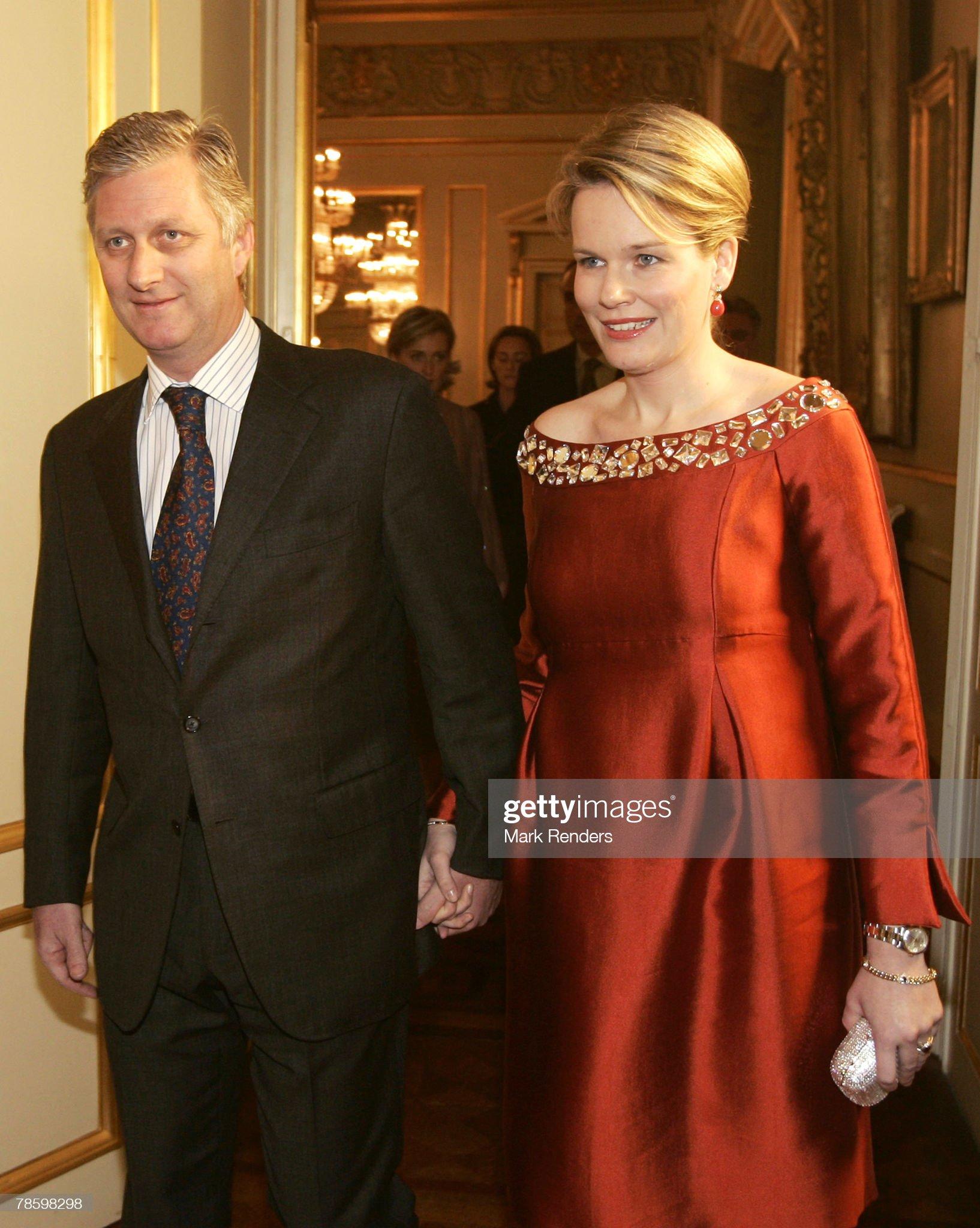 Вечерние наряды Королевы Матильды Belgium Royals Attend A Christmas Concert At The Royal Palace : News Photo