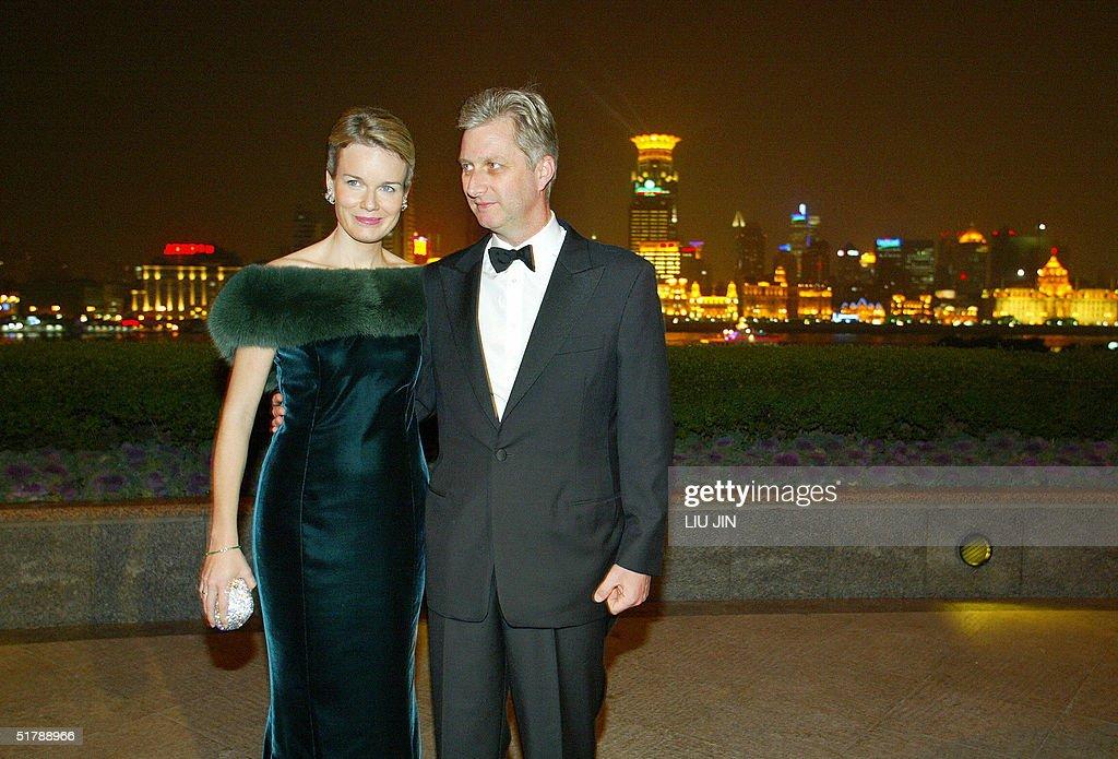 Prince Philippe (R) and Princess Mathild : News Photo