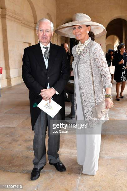 Prince Philippe de Liechtenstein and Princess isabelle de Liechtenstein attend the Wedding of Prince Jean-Christophe Napoleon and Olympia Von...