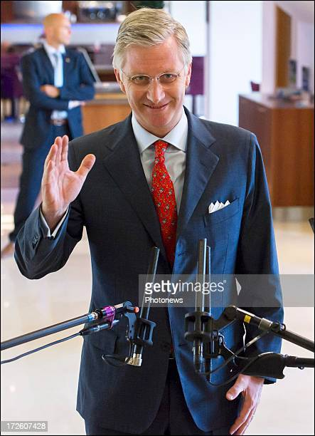 Prince Philippe during a visit to the Probing Vegetation Conference on July 4, 2013 in Brussels, Belgium. Prince Philippe will become the next King...