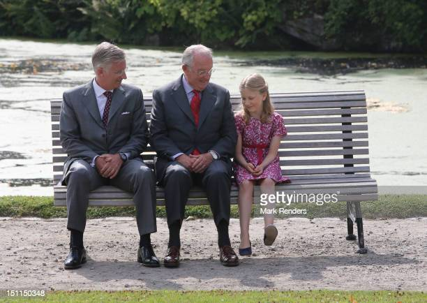Prince Philippe King Albert and Princess Elisabeth of Belgium attend the Belgian Royal Family official photocall at Laeken Castle on September 2 2012...