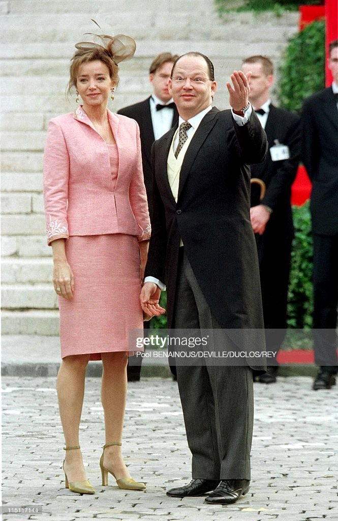 Prince Philippe of Belgium and Mathilde d'Udekem wedding in Brussels, Belgium on December 13, 1999 - Kardame of Bulgaria. At the city hall.