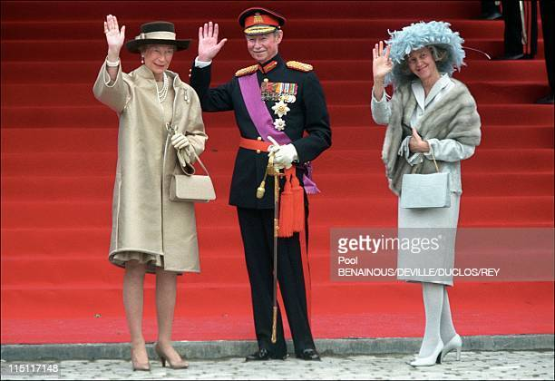 Prince Philippe of Belgium and Mathilde d'Udekem wedding in Brussels Belgium on December 13 1999 Grand Duke and Grande Duchesse of Luxembourg with...