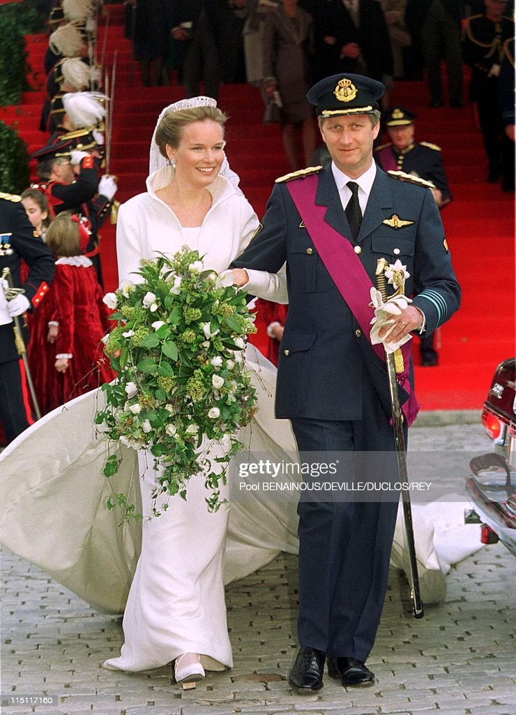 Prince Philippe Of Belgium And Mathilde D'Udekem Wedding In Brussels, Belgium On December 13, 1999. : News Photo