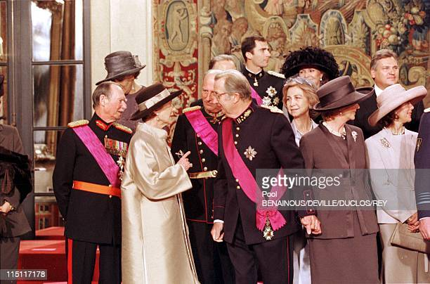 Prince Philippe of Belgium and Mathilde d'Udekem wedding in Brussels Belgium on December 13 1999