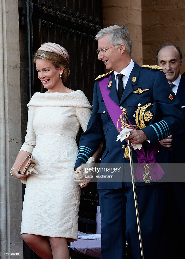 Abdication Of King Albert II Of Belgium & Inauguration Of King Philippe : News Photo