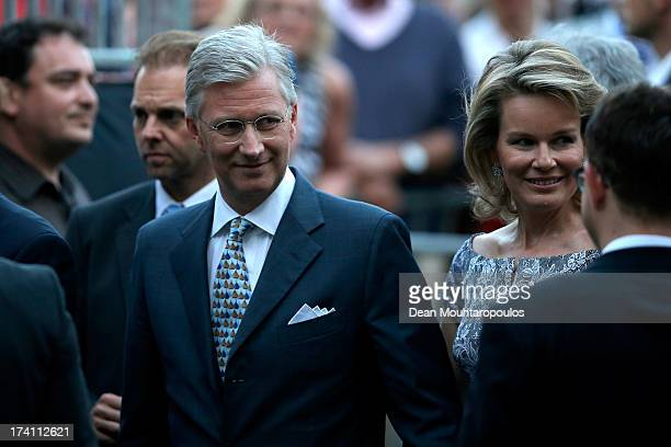 Prince Philippe of Belgium and Princess Mathilde of Belgium attend the 'Bal National' Held Ahead Of Belgium Abdication & Coronation on July 20, 2013...