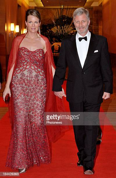 Prince Philippe of Belgium and Princess Mathilde preside a economic mission to India
