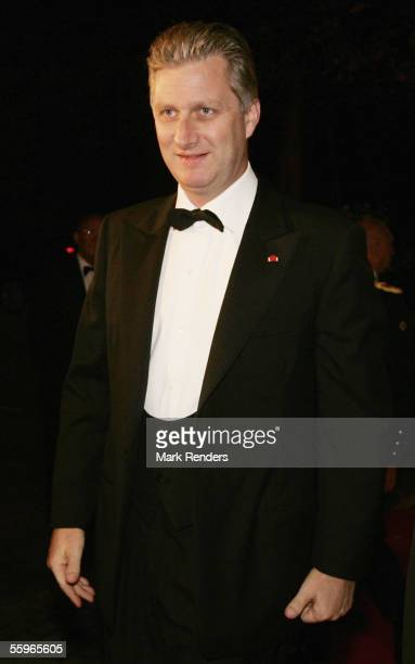 Prince Philippe of Belgium arrives at a reception at the Cercle Gaulois in Brussels on October 19 2005 in the Belgian capital Brussels The Portuguese...