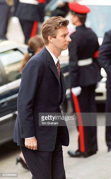 Prince Philippe Of Belgium At A Service To Commemorate The 50th Anniversary Of The End Of The War In Europe At St Paul's Cathedral, London.