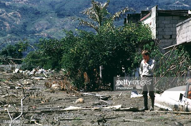 Prince Philippe of Belgium at the disaster of Armero