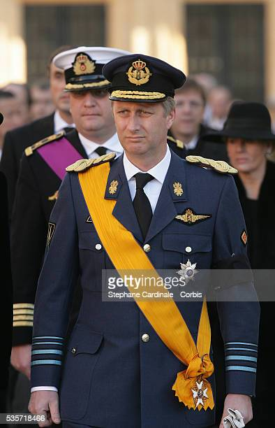 HRH Prince Philippe of Belgium attends the funeral of Grand Duchess of Luxembourg JosephineCharlotte daughter of former Belgian King Leopold III and...