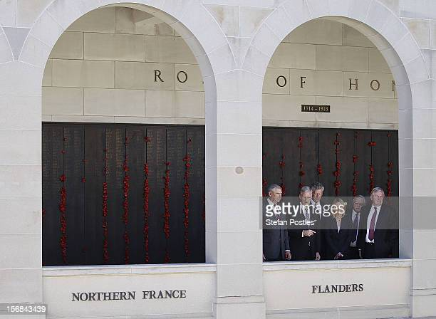Prince Philippe of Belgium is given a tour of The Australian War Memorial on November 23, 2012 in Canberra, Australia. Prince Philippe is on a...
