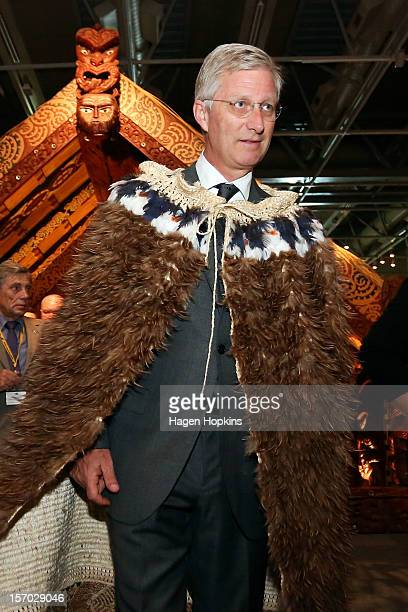 Prince Philippe Of Belgium takes a tour of New Zealand's national museum Te Papa on November 28 2012 in Wellington New Zealand Prince Philippe is on...