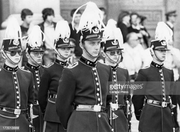 Prince Philippe of Belgium takes part in a military ceremony 26th September 1980