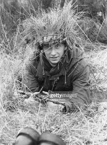 Prince Philippe of Belgium wearing camouflage during military training at the Belgium Royal Military School, 16th October 1978.