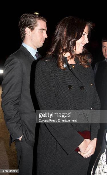 Prince Philippos of Greece and Princess Theodora of Greece attend a screening of a documentary about King Paul I of Greece on March 5 2014 in Athens...