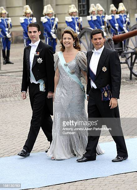 Prince Philippos Of Greece Princess Alexia Of Greece And Carlos Morales At The Wedding Of Crown Princess Victoria Of Sweden And Daniel Westling At...