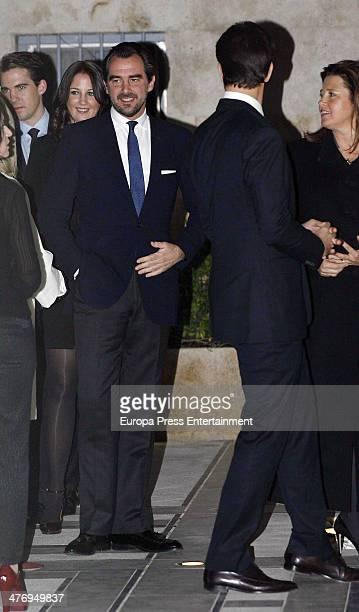 Prince Philippos of Greece Princess Theodora of Greece Prince Nikolaos Of Greece Prince Pavlos of Greece and Princess Alexia of Greece attend a...