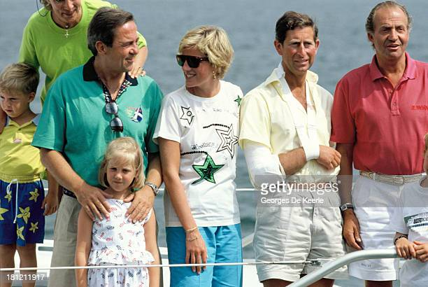 Prince Philippos of Greece Queen AnneMarie of Greece King Constantine II of Greece Princess Theodora of Greece Diana Princess of Wales Charles Prince...