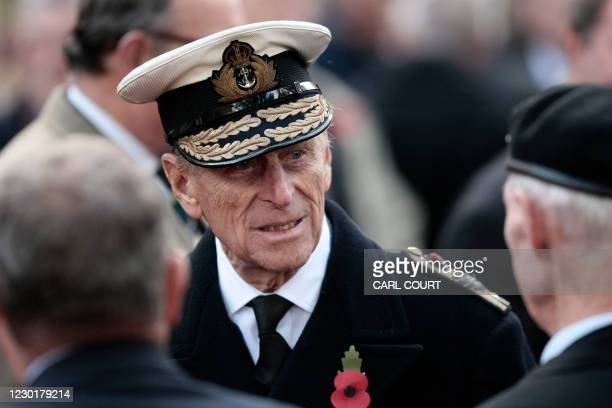 Prince Philip,The Duke of Edinburgh attends a remembrance service to honour Britain's fallen servicemen and women at Westminster Abbey in London, on...