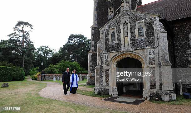 Prince Phillip, Duke Of Edinburgh attends a service of commemoration at Sandringham Church on August 4, 2014 in King's Lynn, England. Monday 4th...