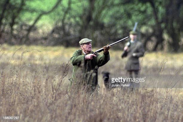 Prince Phillip The Duke Of Edinburgh Shooting At Sandringham Norfolk