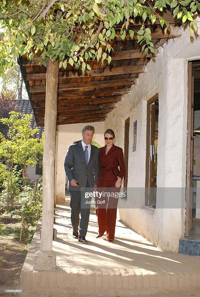 Prince Phillipe & Princess Mathilde Of Belgium'S Economic Mission To Chile.'Visit To A Local Market Place In Santiago'.