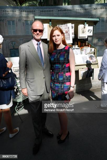 Prince Pierre D'Arenberg and his daugter attend the Chanel Haute Couture Fall Winter 2018/2019 show as part of Paris Fashion Week on July 3 2018 in...