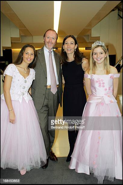 Prince Pierre D'Arenberg and Princess Ariane Poniatowski and 'Les Belles Au Bois Dormant De 'Reves D'Enfants' at The Arop Christmas Production Of...