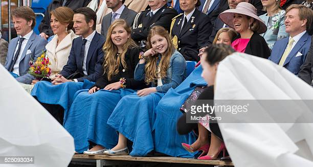 Prince Pieter Christiaan Princess Marilene Prince Maurits Crown Princess CatharinaAmalia Princess Alexia Queen Maxima and King WillemAlexander of The...