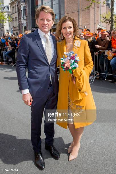 Prince PieterChristiaan and Princess Anita of The Netherlands attend the King's 50th birthday during the Kingsday celebrations on April 27 2017 in...