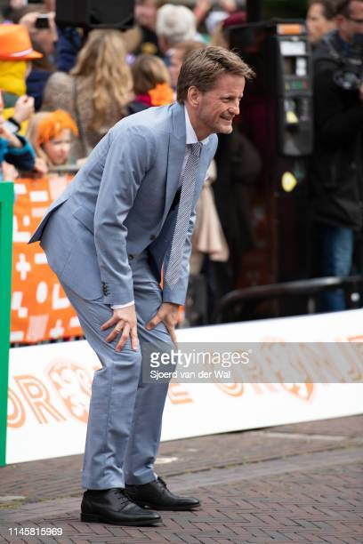 Prince PieterChristiaan of The Netherlands participating in a game of soccer during the Kingsday celebrations on April 27 2019 in Amersfoort...