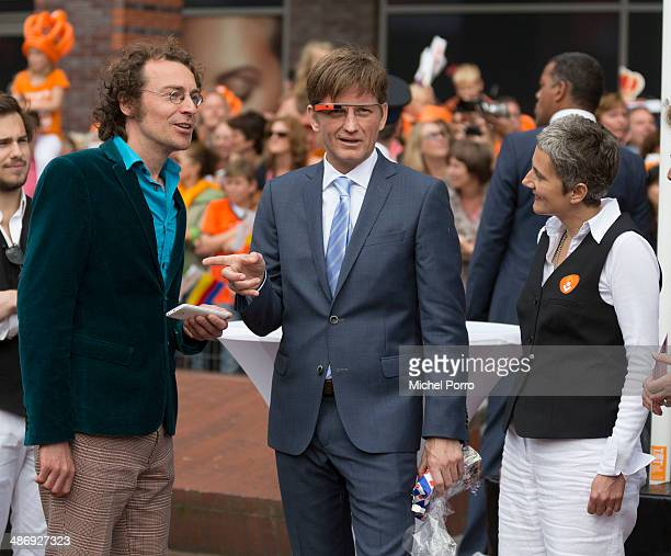 Prince PieterChristiaan of The Netherlands tries out Google glass during King's Day festivities on April 26 2014 in Amstelveen Netherlands