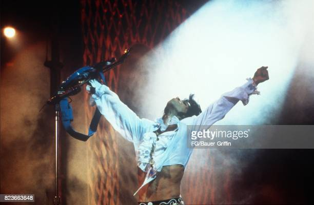 Prince plays Charlotte Coliseum during the Lovesexy tour on September 24 1988 in Charlotte United Kingdom 170612F1