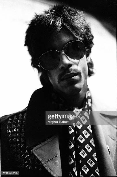 Prince poses backstage at Paradiso Amsterdam Netherlands 29th May 1981