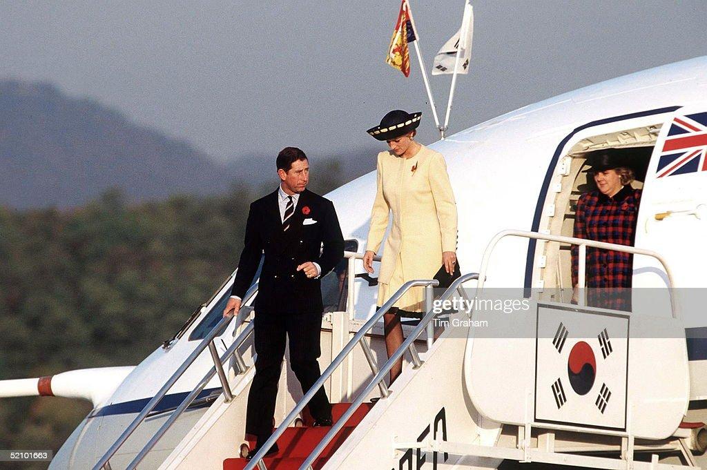 Prince & Princess Of Wales Arrive In Korea