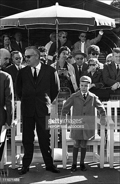 Prince Rainier And His Prince Albert In Monaco On May 08 1965