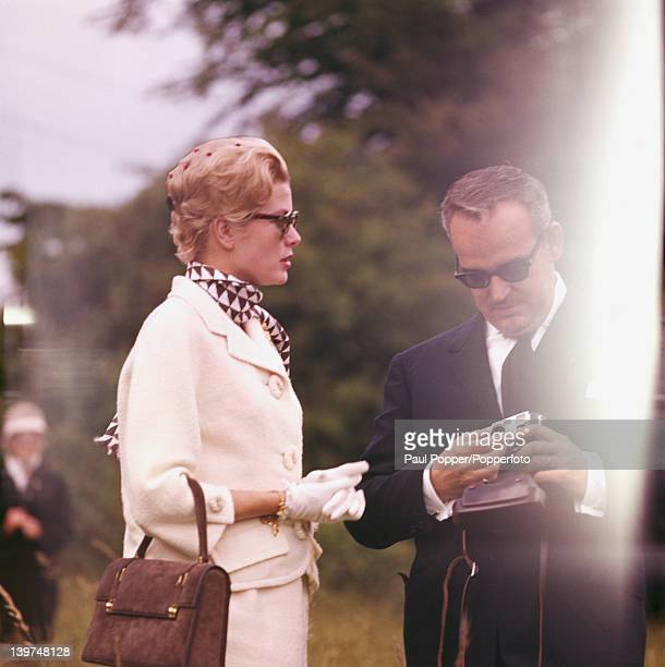 Prince Rainier III of Monaco and Princess Grace of Monaco , the former actress Grace Kelly, during a visit to Ireland, 1961.