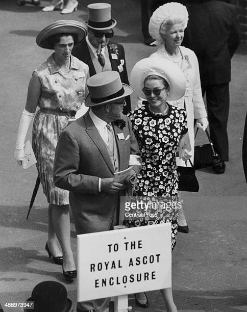 Prince Rainier of Monaco and Princess Grace Kelly attending the Royal Meeting at Ascot Berkshire June 14th 1966
