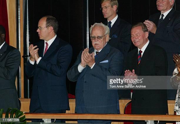 Prince Rainier of Monaco & Slovakia's President Rudolf Schuster