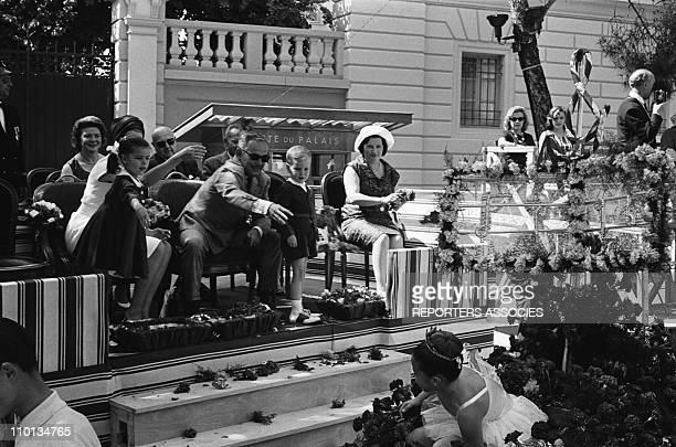 Prince Rainier on Flowers day in Monaco on June 18 1962