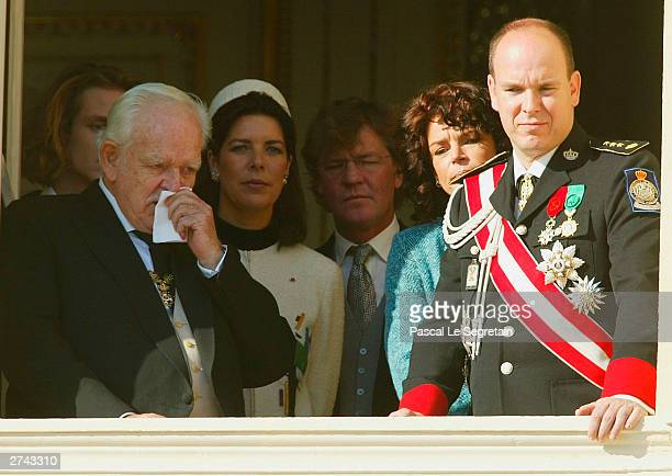 Prince Rainier with Princess Caroline Princess StephaniePrince Ernst August of Hanover and Prince Albert at the balcony of the Monaco Palace during...
