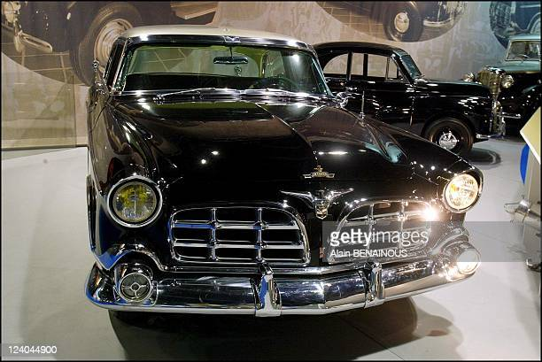 Prince Rainier's car collection at the 2002 Paris auto show In Paris France On September 26 2002 Chrysler 300B 1956
