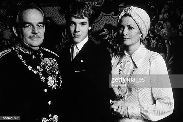 Prince Ranier III of Monaco with his son Prince Albert and wife Princess Grace