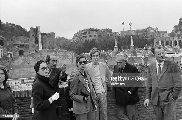 Prince Ranier of Monaco his wife Princess Grace and their children Prince Albert Princess Caroline and Princess Stephanie during a sightseeing tour...