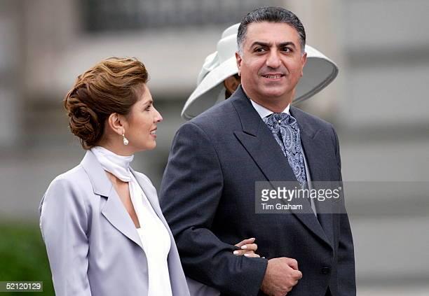 Prince Reza Pahlavi Of Iran With His Wife Yasmine At The Spanish Royal Wedding